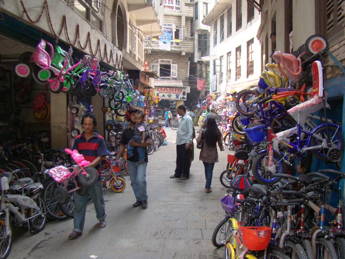 Zdjęcia: Wokół Thamelu, Kathmandu, Uliczki Kathmandu, NEPAL