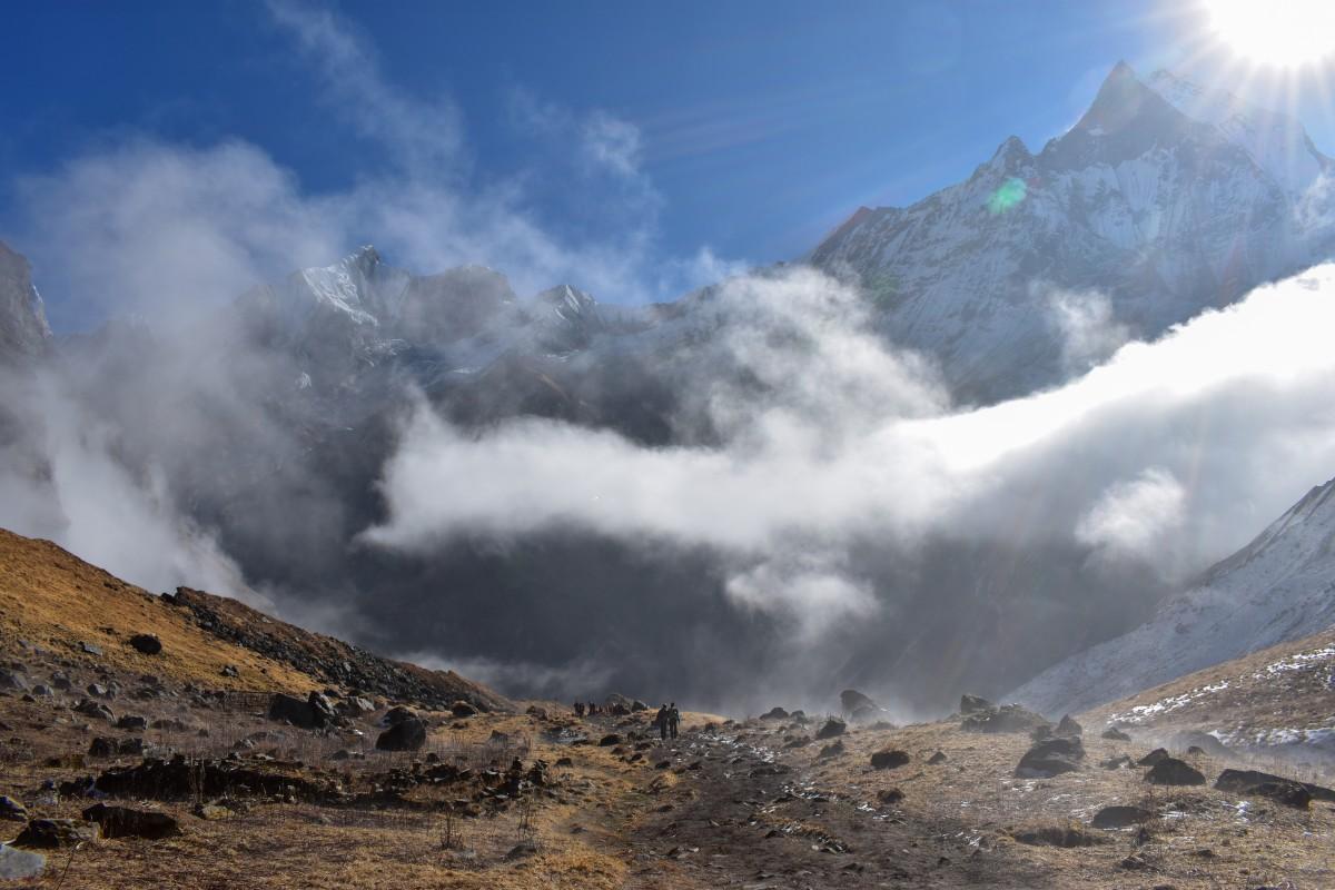 Zdjęcia: obszar Annapurny, Himalaje, Droga powrotna, NEPAL