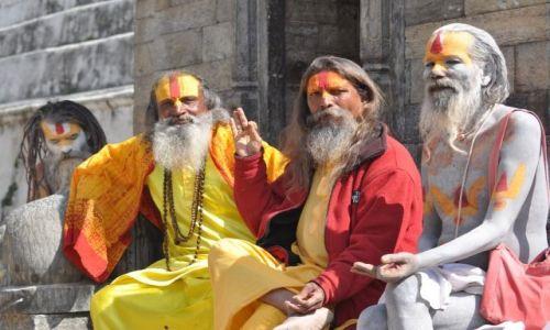Zdjecie NEPAL / Kathmadu / Pashupatinath / Sadhu?