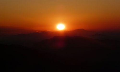 NEPAL / Himalaje / Pokhara / Wschód słońca