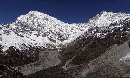 NEPAL / Himalaje / Dolina Langtang / Langtang Lirung (7225 m) i Kimshung (6745 m)