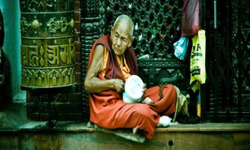 Zdjęcie NEPAL / - / Katmandu / konkurs - Mnich