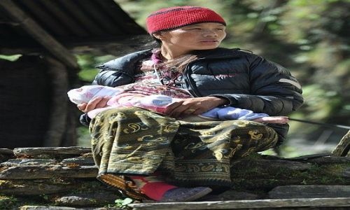 Zdjecie NEPAL / Annapurna / Banthanti / dziewczyna