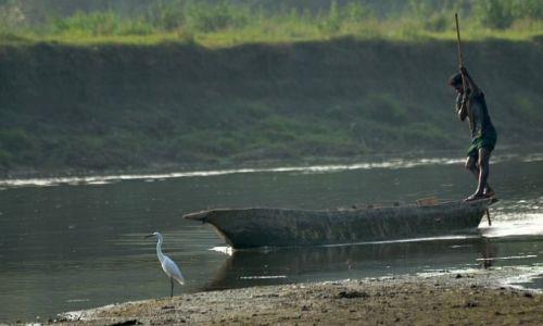 Zdjecie NEPAL / Chitwan / Bhuri Rapti / łódka