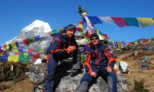 Zdjecie NEPAL / Himalaje  / Baza pod Ama Dablam  / Baza - już po a