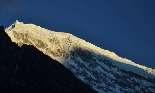 Zdjęcie NEPAL / Langtang National Park / Kyanjin Gompa / Langtang Lirung 7227m.n.p.m. o wschodzie