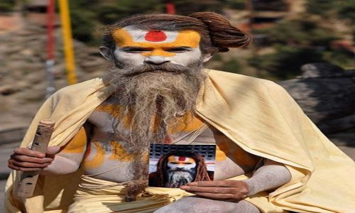 Zdjecie NEPAL / - / Kathmandu - Pashupatinath / Sadhu