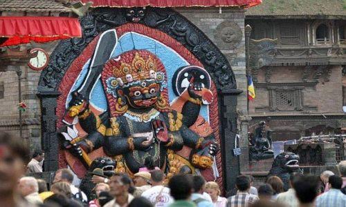 Zdjęcie NEPAL / Kathmandu / Durbar Square / Czany Bhairab