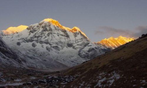 Zdjęcie NEPAL / Annapurna range / Annapurna base camp / Poranek