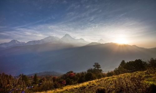 Zdjecie NEPAL / Annapurna Conservation Area / Poon Hill / Wsch�d s�o�ca z