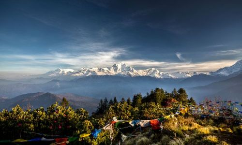 NEPAL / Annapurna Conservation Area / Poon Hill / Widok z Poon Hill na Dhaulagiri
