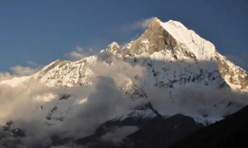 Zdjecie NEPAL / - / W drodze do ABC / Swieta góra Nepalu