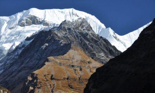 Zdjęcie NEPAL / Annapurna Range / W drodz do A.B.C. / Gangapurna 7454m.n.p.m.