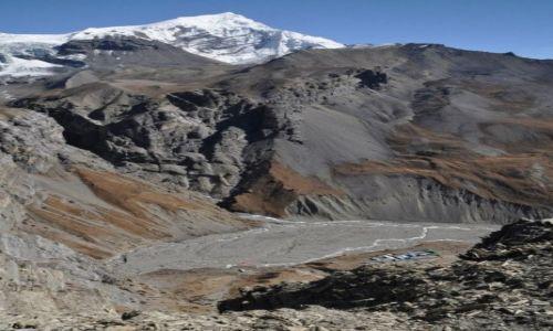 Zdjęcie NEPAL / Annapurna Round Trek / widok z punktu widokowego przy Thorung High Camp / Thorung Phedi