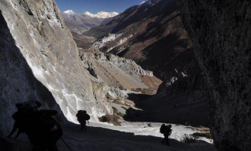 Zdjęcie NEPAL / Annapurna Round Trek / w drodze do Tilicho BC / osuwiska przed Tilicho Base Camp