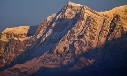 NEPAL / Dhaulaghiri / widok z Poon Hill / Gurja Himal 7193m