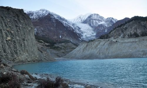 Zdjęcie NEPAL / Annapurna / Manang / Gangapurna i jej jeziorko