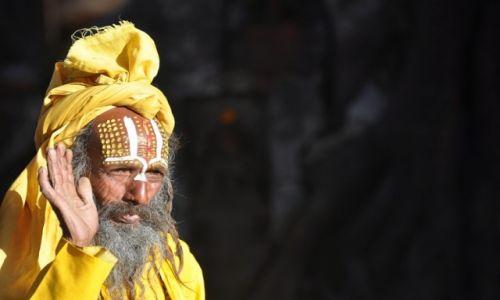 Zdjęcie NEPAL / Kathmandu / Durbar Square / sadhu