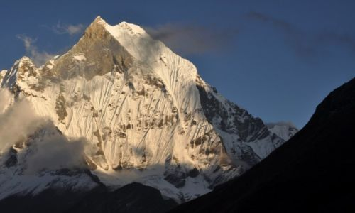 Zdjecie NEPAL / Annapurna Range / ABC / Machhaphuchhare o zachodzie