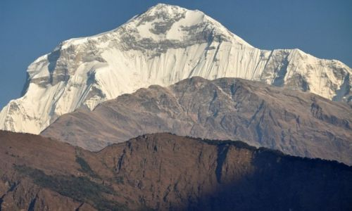 Zdjecie NEPAL / Annapurna/Dhaulaghiri  / widok z Sikha / Dhaulagiri