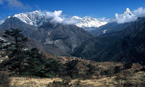NEPAL / Himalaje / Trekking w rejonie Mount Everestu / Taka sobie pocztówka ...