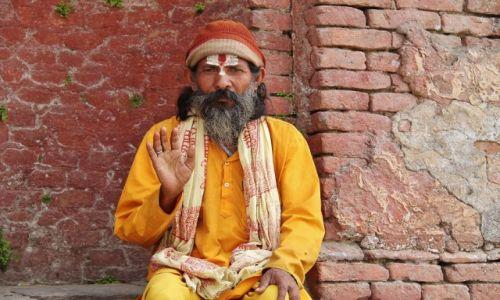 Zdjecie NEPAL / - / Pasiupatinath / Sadhu