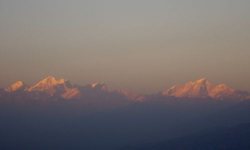 NEPAL / Dolina Kathmandu / Nagarkot / zachód slonca nad Himalajami