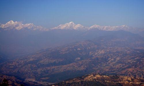 NEPAL / Dolina Kathmandu / Nagarkot / Widok na Himalaje Wysokie