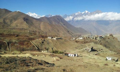 NEPAL / Mustang, Annapurna / wioska Jharkot 3550m / Jharkot - Mustang