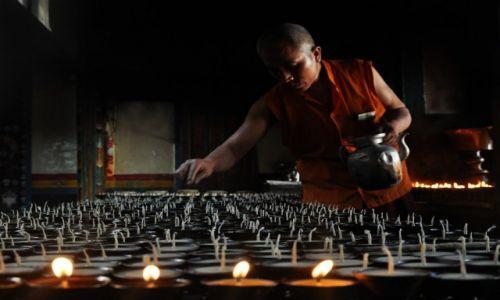 Zdjecie NEPAL / Kathmandu / Stupa Swayambunath / w Swayambunath