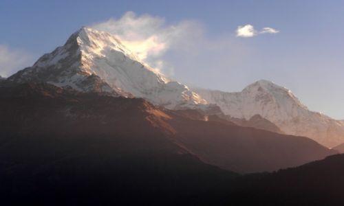Zdjecie NEPAL / Annapurna Conservation Area / Poon Hill (3193 m) / Annapurna Południowa (7219 m) i Patal Hiun Chiuli (6441 m)