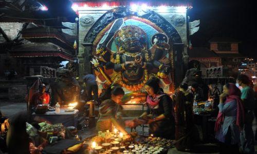 Zdjęcie NEPAL / Kathmandu / Durbar Square / Kali Bhairab
