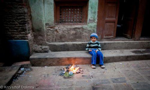 Zdjęcie NEPAL / -Kathmandu / Kathmandu / Chlopiec w Kathmandu