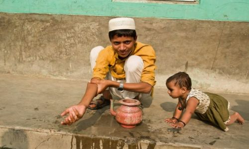 Zdjecie NEPAL / Terai / Janakpur / Rodzeństwo