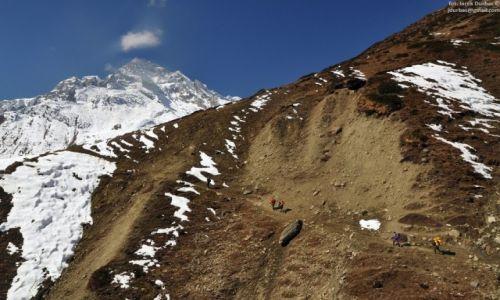 Zdjecie NEPAL / Manaslu / przed otatnią lodgą przed Larka pass / dorga do Dharamsala