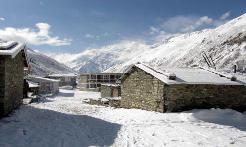 Zdjecie NEPAL / Annapurna / Yak Kharka / Śnieżne przebudzenie