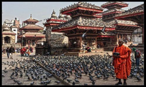 NEPAL / Kathmandu / Durbar Square / Niestety, tego miejsca już nie ma!