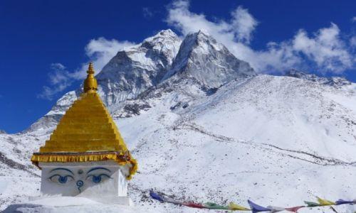 Zdjecie NEPAL / Himalaje / Dolina Khumbu / Tajemnicze spojrzenie Buddy