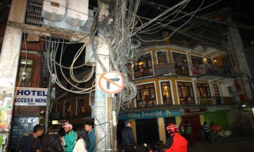 Zdjęcie NEPAL / Kaski / POKHARA / elektryka!!!