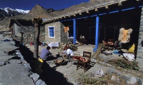 Zdjecie NEPAL / brak / Szlak wokół Annapurny / Zagroda Thakalów w Jomoson