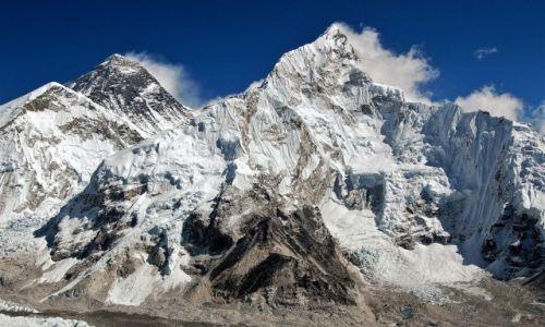 Zdjecie NEPAL / Himalaje, rejon Mt. Everest / górna część Lodowca Khumbu - Nuptse i Mt. Everest  / Panorama z wierzchołka Kala Pattar cz.1