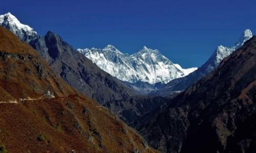 NEPAL / Himalaje / Ponad Namche Bazaar / Mt. Everest po raz pierwszy!.