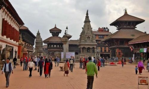 Zdjecie NEPAL / Kathmandu / Bhaktapur Durbar Square / Durbar Square  przed zniszczeniem