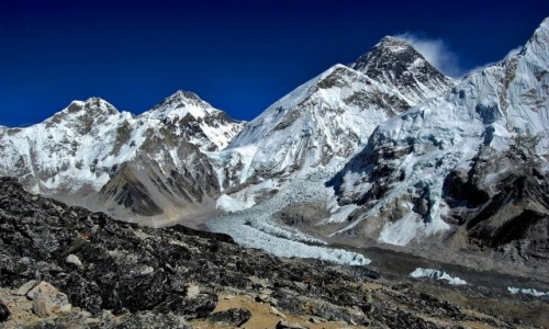 Zdjecie NEPAL / Sagarmatha Himal (Mt. Everest) / widok ze szczytu Kala Pattar / Everest i Sp�k