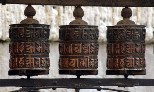 NEPAL / Annapurna Circuit / Annapurna Circuit / Kołowrotki modlitewne