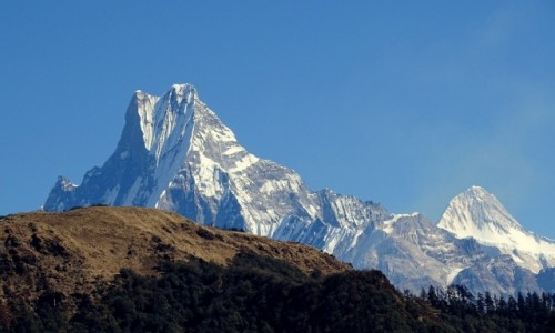 NEPAL / Himalaje - Annapurna Circuit  / widok na Machapuchare / Rybi Ogon