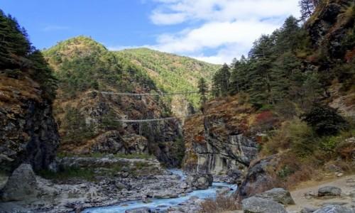 Zdjecie NEPAL / Himalaje - dystrykt Solukhumbu / w drodze do Namche  / Most do Namche