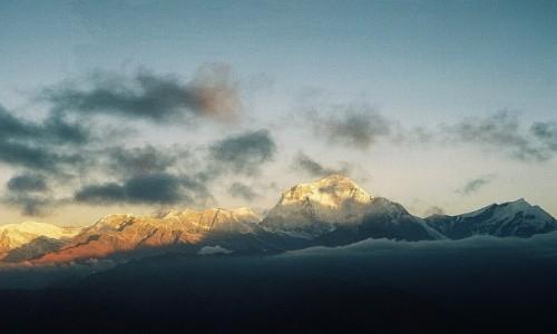 Zdjecie NEPAL / masyw Annapurny / Poon Hill / wschód słońca nad Dhaulagiri
