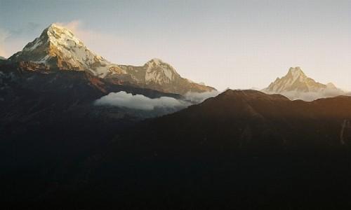 Zdjecie NEPAL / masyw Annapurny / Poon Hill / widok na Annapurnę i  Machhapuchhare z Poon Hill