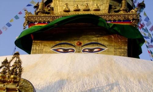 Zdjecie NEPAL / Katmandu / Swayambhunath / Buddha eyes